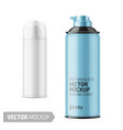 white glossy tin can for shaving foam vector image