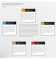 white infographcs with squares vector image vector image