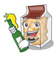with beer pork rinds in character plastic vector image vector image