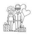 young people couple vector image vector image