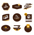 retro styled coffee labels badges vector image