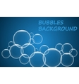 Abstract blue bubbles background vector image