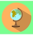 flat icon of globe with long shadow vector image
