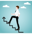 Businessman on stairs Success concept vector image