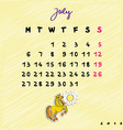 2015 horses july vector image vector image