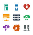 9 server icons vector image vector image