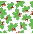 acorns with oak leaves in summer seamless texture vector image vector image