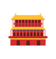 ancient chinese architecture icon of pagoda vector image