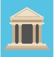 bank building money symbol icon vector image