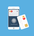 bank card and mobile payment near field vector image