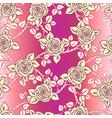 Beautiful pink and vintage yellow seamless pattern
