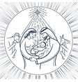bible scene the nativity of jesus black vector image vector image