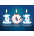 Birthday candle number 101 vector image vector image
