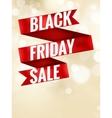 Black Friday ribbon EPS 10 vector image vector image
