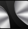 black metal design element vector image vector image