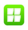 black stickers icon digital green vector image vector image