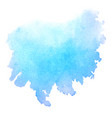 blue watercolor stain isolated on white background vector image vector image