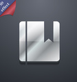 book bookmark icon symbol 3D style Trendy modern vector image vector image