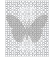 butterfly on big puzzle vector image vector image
