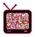 cartoon television vector image