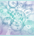 cell background with futuristic interface elements vector image vector image