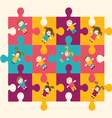 children puzzle 2 38 vector image vector image