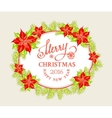 Christmas mistletoe branch vector image vector image
