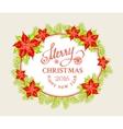 Christmas mistletoe branch vector image