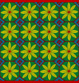 colorful ceramic mosaic with floral design vector image vector image
