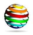 Colorful glossy spheres isolated vector image vector image