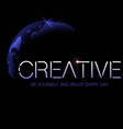 creative space background vector image vector image