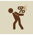 crisis economy finance concept icon design vector image vector image