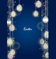 easter egg party light frame on night sky vector image