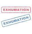 exhumation textile stamps vector image