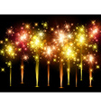 Festive colourful firework background vector image
