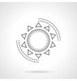 Flat line abstract sun icon vector image