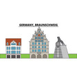 germany braunschweig city skyline architecture vector image vector image