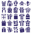 gifts icons on white vector image vector image