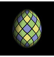 greeting card - colored Easter egg vector image