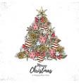 holiday decorative christmas tree vector image