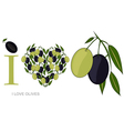i love olives vector image vector image