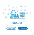 insurance agent at work concept vector image
