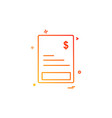 invoice icon design vector image