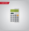 isolated calculator flat icon calculate vector image vector image