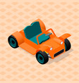 isometric retro car model sport utility vehicle vector image