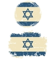 Israeli round and square grunge flags