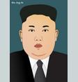 leader kim jong un vector image
