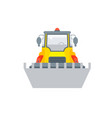 loader with bucket front view vector image