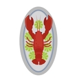 Lobster flat vector image vector image