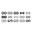 loop symbol mobius ribbon shape abstract vector image vector image